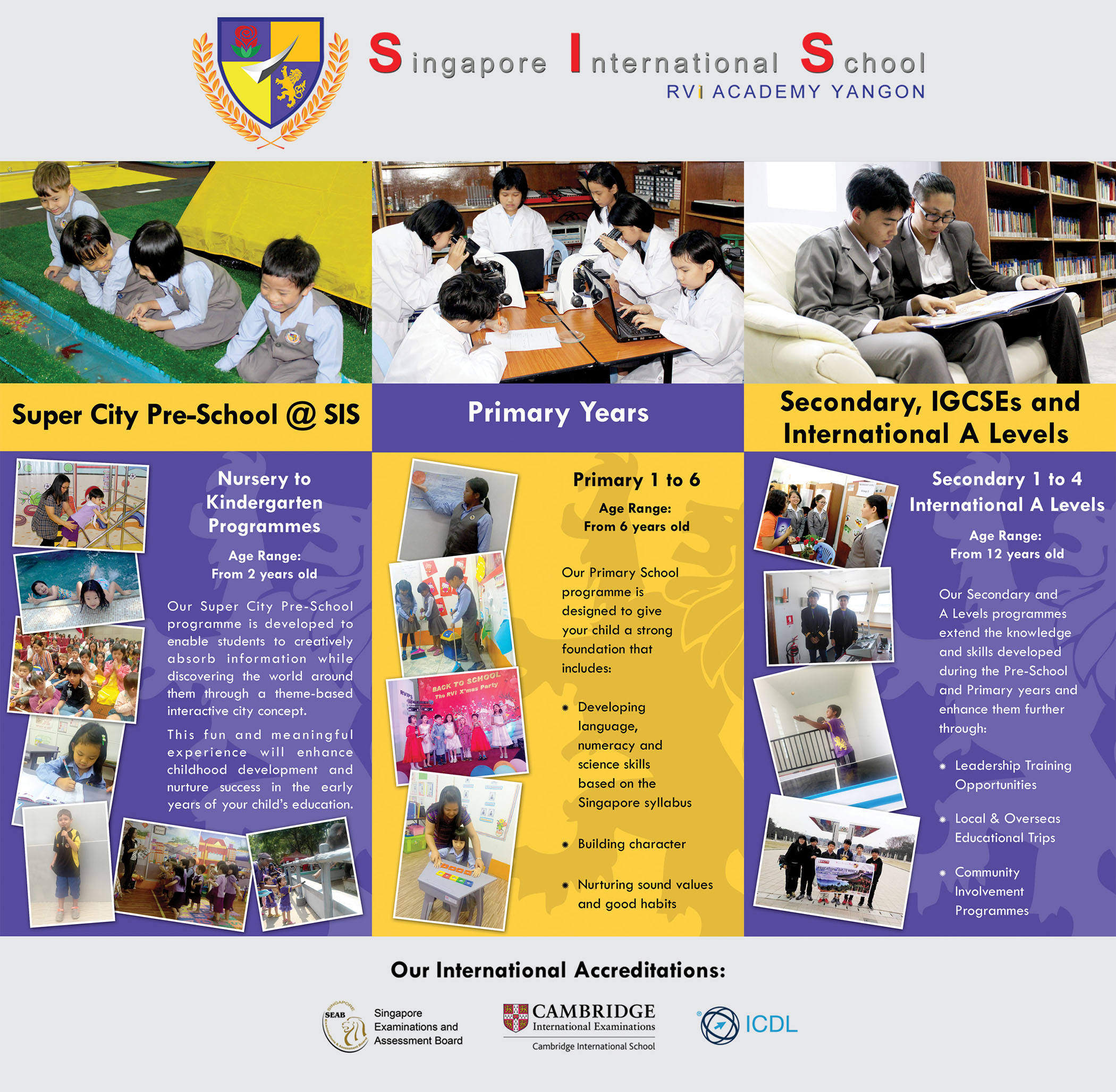 Singapore International School : RVi Academy Yangon