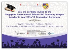 Announcement : SIS Graduation Ceremony 2017