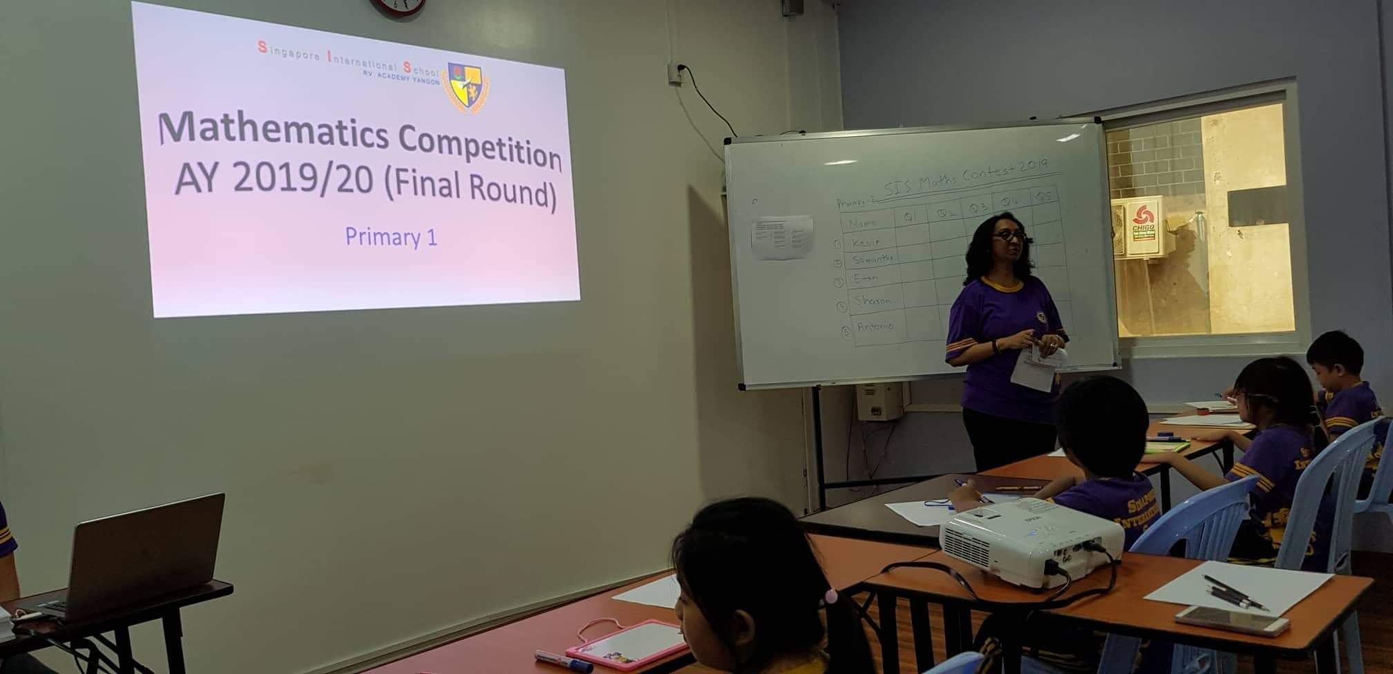 SIS Mathematics Competition 2019
