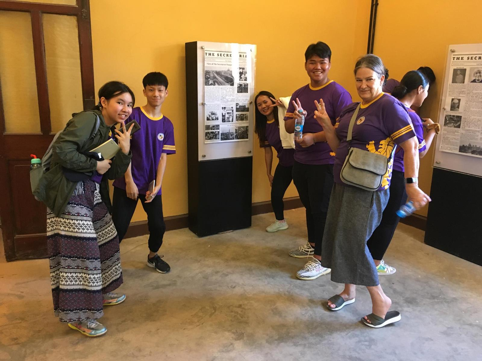 High School Trip to the Yangon Secretariat and Leonardo Opera Omnia Art Exhibition