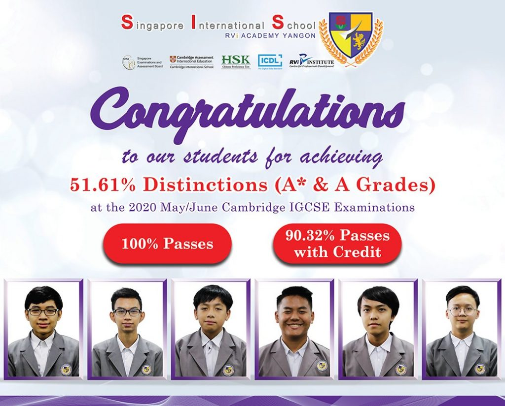 Results for the 2020 May/June Cambridge IGCSE examinations