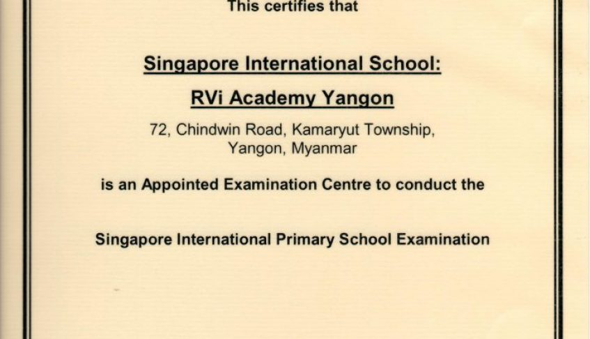 SIS re-appointed as Examination Centre for iPSLE