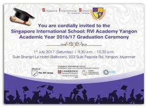 Announcement : SIS Graduation Ceremony 2017