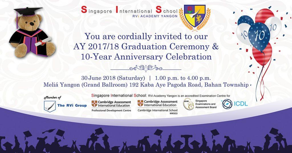 SIS Graduation and 10-Year Anniversary Celebration